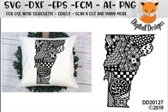 Zentangle Vermont Doodle SVG Product Image 1