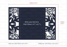 White Christmas Snowflake Invitation cutting file Product Image 4