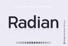 Radian | A Geometric Sans Serif Typeface Product Image 1