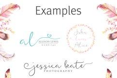 Featherly Font - wedding font Product Image 5