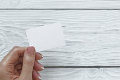 Mockups bundle box, with hand, note. PSD Product Image 1