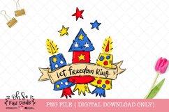 Let freedom ring, fireworks sublimation design Product Image 1