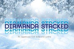 Diamanda Stacked - Retro Font Product Image 7