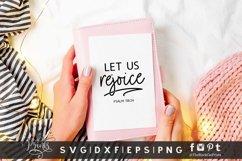 Let Us Rejoice SVG | Christian SVG | Bible Verse SVG Product Image 2