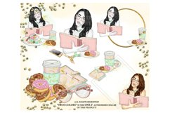 Planner Girl Clip Art/Planner Girl Clipart/planner girl Product Image 3