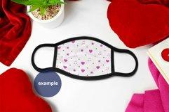 Black Edge Face Mask Mockup Valentine's Day Full wrap PSD Product Image 4