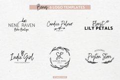 River Jade, signature font script, logos & bonus clipart Product Image 6