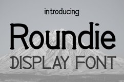 EP Roundie- Display Font Product Image 1