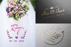 20 Minimalist Wedding Logos Product Image 3
