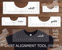 T-Shirt Alignment Tool SVG Glowforge files, Printable PDF Product Image 3