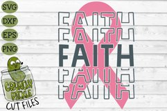 Breast Cancer Ribbon Faith SVG File Product Image 2
