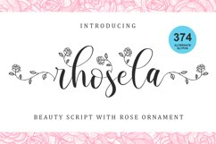 Rhosela -Floral Calligraphy- Product Image 1