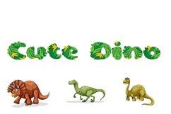 Cute Dino Dinosaur Font Product Image 5