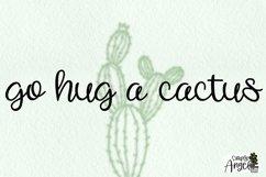 Happy Cactus - a cute handwritten script font Product Image 3
