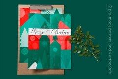 Christmas geometric pattern and postcard set. Product Image 6