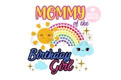 Mommy of the Rainbow Birthday Girl svg |Rainbow Birthday svg Product Image 1
