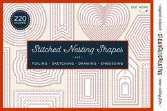 Stitched Nesting Shapes SVG | card making sketch foil paper Product Image 1