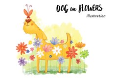 Dog in Flowers Product Image 1