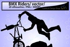 bmx rider silhouette / BMX Rider svg / bmx riders / bmx cycle / bmx rider cliparts / bmx rider vector / bike ride / SVG / EPS / Png / DXf Product Image 2