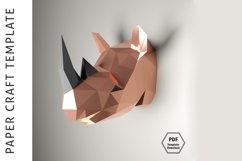Rhino Papercraft/Paper craft/3D Papercraft/3D rhinoceros/PDF Product Image 4