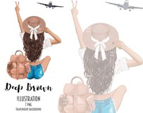 Fashion Travel Girl Clipart - Cute Backpack Illustration Product Image 6
