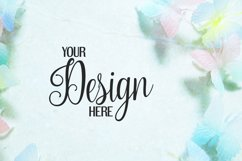 Butterfly on marble background photo   Flat mock up bundle Product Image 3