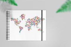 Classic kids hand prints rainbow map Product Image 2
