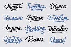 Rainsha Script Font - Extras Swash Product Image 6