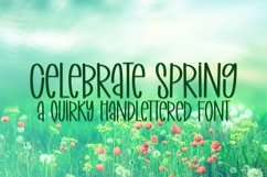 Web Font Celebrate Spring - A Quirky Handlettered Font Product Image 1
