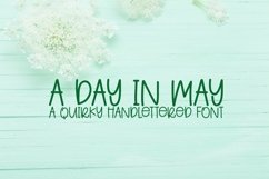Web Font A Day In May - A Quirky Handlettered Font Product Image 1