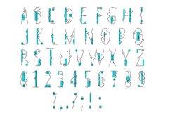 Line Flat font + line flat icon Product Image 3