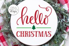 Hello Christmas SVG | Winter Sign | DXF and More Product Image 1