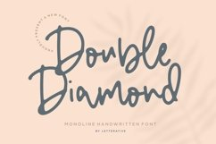 Double Diamond Monoline Handwritten Font Product Image 1