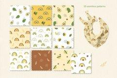 Avocado and Rainbow Seamless Patterns, Nursery Digital Paper Product Image 3