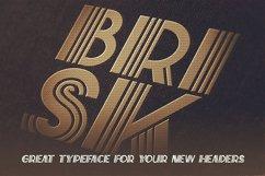 Brisk - ArtDeco Display Font Product Image 5