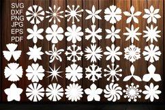 Paper Flower Templates SVG, Flower Center SVG, Origami Product Image 1