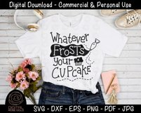 Whatever Frosts Your Cupcake - Funny Food SVG, Baking SVG Product Image 2