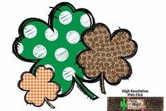 St Patrick's Day Shamrock 4 leaf clover Dye Sublimation PNG Product Image 1