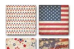 Patriotic Digital Paper Product Image 5