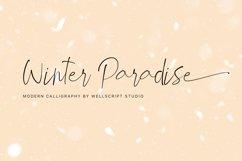 Winter Paradise - Modern Script Product Image 1