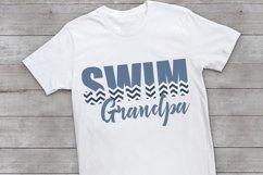 Swim - Swimming - Proud Grandpa - Swim Grandpa SVG Product Image 2