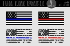 First Responder Bundle, SVG, Thin line, American flag Product Image 1