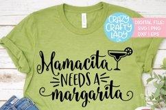 Mamacita Needs a Margarita SVG DXF EPS PNG Cut File Product Image 1