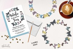 Butterfly 6 Wreath Watercolor Garlands Butterflies Spring Product Image 2