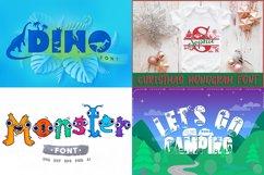 All Shop Fonts Bundle   Cameo and Cricut Craft Fonts Bundle Product Image 4