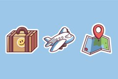 Traveling Sticker illustrations Product Image 1