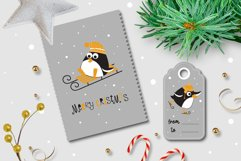 Winter funny penguins clipart Product Image 3