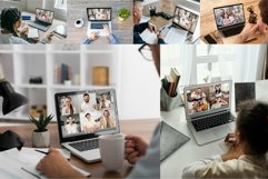 18 Laptops Video Call Mockup Product Image 2