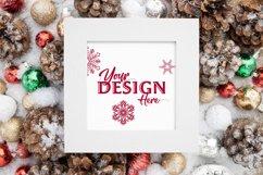 White Frame Holiday Mockup Product Image 1