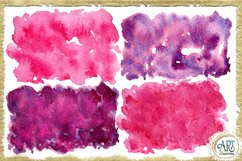 Sublimation BUNDLE Watercolor Pink Purple backgrounds PNG Product Image 4